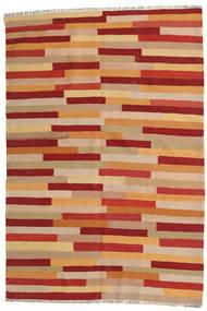 Kilim Rug 126X184 Authentic Oriental Handwoven Light Brown/Rust Red (Wool, Persia/Iran)