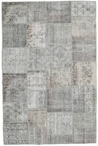 Patchwork Rug 196X300 Authentic  Modern Handknotted Light Grey/Dark Grey (Wool, Turkey)