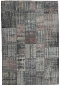 パッチワーク 絨毯 204X303 モダン 手織り 濃いグレー/薄い灰色 (ウール, トルコ)