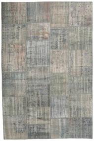 パッチワーク 絨毯 200X303 モダン 手織り 薄い灰色/濃いグレー (ウール, トルコ)