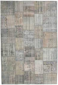 Patchwork Tapis 203X300 Moderne Fait Main Gris Clair/Gris Foncé (Laine, Turquie)