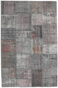 Patchwork Rug 196X302 Authentic  Modern Handknotted Light Grey/Dark Grey (Wool, Turkey)