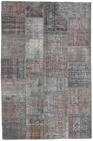 Patchwork Rug 198X300 Authentic  Modern Handknotted Light Grey/Dark Blue (Wool, Turkey)