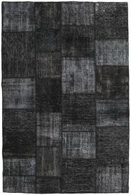 Patchwork Covor 197X298 Modern Lucrat Manual Negru/Gri Închis (Lână, Turcia)