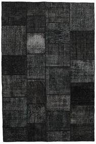 パッチワーク 絨毯 198X298 モダン 手織り 黒/濃いグレー (ウール, トルコ)