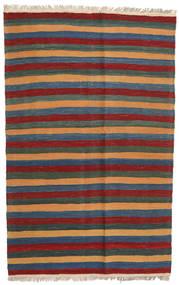 Kilim Tapete 123X194 Oriental Tecidos À Mão Cinza Escuro/Vermelho Escuro/Azul (Lã, Pérsia/Irão)