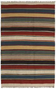 Kilim Rug 123X194 Authentic  Oriental Handwoven Light Brown/Black (Wool, Persia/Iran)