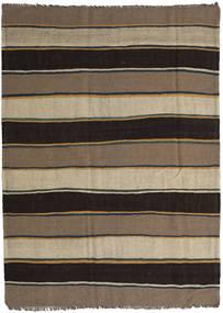Kilim Rug 187X258 Authentic  Oriental Handwoven Black/Light Brown (Wool, Persia/Iran)