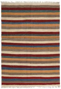 Kilim Rug 127X183 Authentic  Oriental Handwoven Light Brown/Brown (Wool, Persia/Iran)