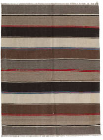 Kilim Rug 138X183 Authentic  Oriental Handwoven Light Brown/Dark Brown (Wool, Persia/Iran)
