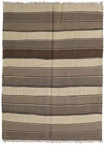 Kilim Rug 146X198 Authentic Oriental Handwoven Brown/Light Brown (Wool, Persia/Iran)