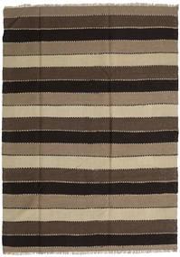 Kilim Rug 189X263 Authentic  Oriental Handwoven Light Brown/Dark Brown/Black (Wool, Persia/Iran)