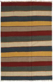 Kilim Rug 126X191 Authentic Oriental Handwoven Light Brown/Dark Turquoise (Wool, Persia/Iran)