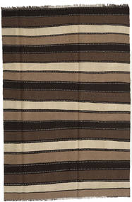 Kilim Rug 174X259 Authentic  Oriental Handwoven Black/Dark Brown/Light Brown (Wool, Persia/Iran)