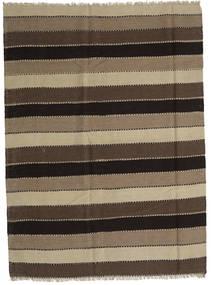 Kilim Rug 186X253 Authentic  Oriental Handwoven Dark Brown/Light Brown (Wool, Persia/Iran)