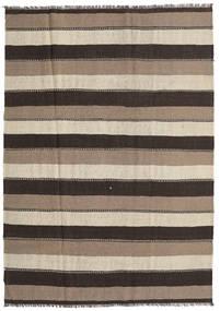 Kilim Rug 190X269 Authentic  Oriental Handwoven Light Brown/Dark Grey (Wool, Persia/Iran)