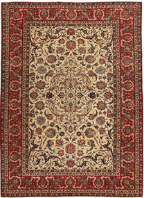 Isfahan Patina Rug 240X327 Authentic  Oriental Handknotted Light Brown/Dark Red/Dark Brown (Wool/Silk, Persia/Iran)