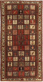 Bakhtiari Patina Rug 145X285 Authentic  Oriental Handknotted Dark Red/Dark Brown (Wool, Persia/Iran)