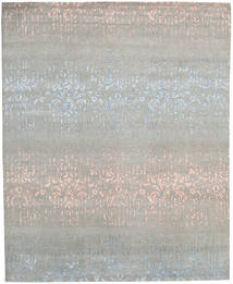 Himalaya Rug 245X303 Authentic  Modern Handknotted Light Grey (Wool/Bamboo Silk, India)