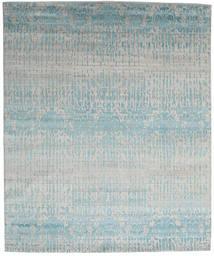 Himalaya Matto 249X300 Moderni Käsinsolmittu Vaaleanharmaa/Vaaleansininen (Villa/Bambu Silkki, Intia)