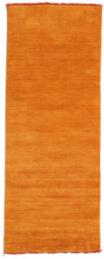 Handloom Fringes - Orange Tapis 80X200 Moderne Tapis Couloir Orange (Laine, Inde)