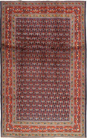 Sarouk Mir Rug 202X327 Authentic  Oriental Handknotted Dark Purple/Brown (Wool, Persia/Iran)