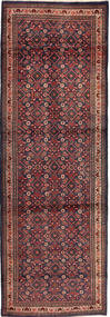 マハル 絨毯 100X313 オリエンタル 手織り 廊下 カーペット 深紅色の/紺色の (ウール, ペルシャ/イラン)