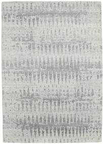 Himalaya Rug 212X302 Authentic  Modern Handknotted Light Grey (Wool/Bamboo Silk, India)