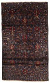 バルーチ 絨毯 114X195 オリエンタル 手織り 深紅色の/濃い茶色 (ウール, アフガニスタン)