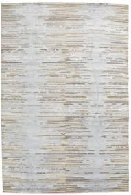 Himalaya Teppich  197X298 Echter Moderner Handgeknüpfter Hellgrau/Weiß/Creme (Wolle/Bambus-Seide, Indien)