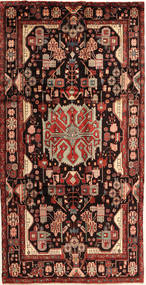 Nahavand Rug 168X327 Authentic  Oriental Handknotted Dark Red/Dark Brown (Wool, Persia/Iran)