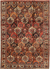 Bakhtiari Rug 207X303 Authentic  Oriental Handknotted Dark Red/Dark Brown (Wool, Persia/Iran)