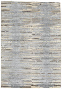 Himalaya Rug 167X244 Authentic  Modern Handknotted Light Grey (Wool/Bamboo Silk, India)