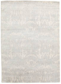Himalaya Rug 172X242 Authentic  Modern Handknotted Light Grey/Dark Beige (Wool/Bamboo Silk, India)