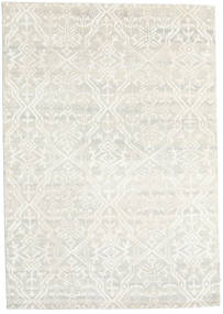 Himalaya Rug 168X238 Authentic  Modern Handknotted Dark Beige/Beige (Wool/Bamboo Silk, India)