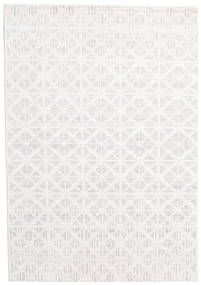Himalaya Rug 170X243 Authentic  Modern Handknotted White/Creme (Wool/Bamboo Silk, India)
