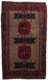 Beludż Dywan 112X170 Orientalny Tkany Ręcznie Ciemnoczerwony/Jasnobrązowy (Wełna, Afganistan)