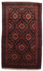 バルーチ 絨毯 102X190 オリエンタル 手織り 濃い茶色/深紅色の (ウール, アフガニスタン)