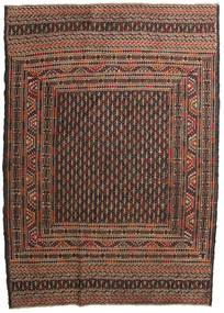 キリム ゴルバリヤスタ 絨毯 132X188 オリエンタル 手織り 濃い茶色/茶 (ウール, アフガニスタン)