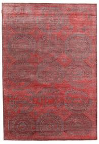 Himalaya Bambu シルク 絨毯 202X296 モダン 手織り 深紅色の/茶 ( インド)
