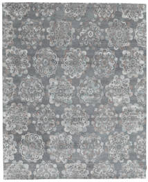 Himalaya Bamboo Silk Rug 242X297 Authentic  Modern Handknotted Light Grey/Light Blue ( India)