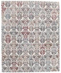 Himalaya Bambu Silkki Matto 248X302 Moderni Käsinsolmittu Vaaleanharmaa/Tummanharmaa ( Intia)