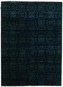 Sari Pure Silke Tæppe 172X239 Ægte Moderne Håndknyttet Sort (Silke, Indien)