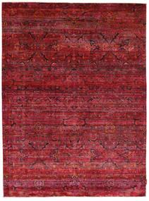 Sari Reine Seide Teppich  178X242 Echter Moderner Handgeknüpfter Dunkelrot/Rot (Seide, Indien)