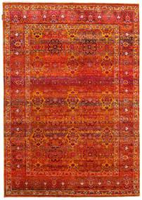 Sari Reine Seide Teppich  172X246 Echter Moderner Handgeknüpfter Rost/Rot/Orange (Seide, Indien)