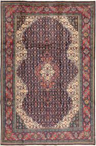 Sarough Matta 200X305 Äkta Orientalisk Handknuten Mörkgrå/Mörkröd (Ull, Persien/Iran)