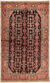 Hamadan Matto 130X222 Itämainen Käsinsolmittu Musta/Vaaleanruskea (Villa, Persia/Iran)