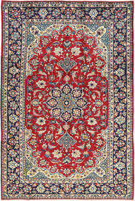Najafabad Rug 203X307 Authentic  Oriental Handknotted Dark Purple/Crimson Red (Wool, Persia/Iran)