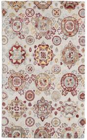 Himalaya Bambu Silkki Matto 92X152 Moderni Käsinsolmittu Vaaleanharmaa/Valkoinen/Creme ( Intia)