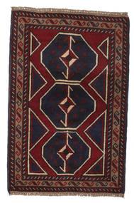 バルーチ 絨毯 86X132 オリエンタル 手織り 濃い茶色/深紅色の (ウール, アフガニスタン)